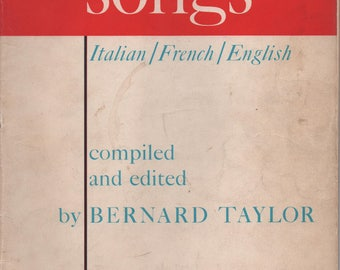 Classic Songs Italian/French/English High Voice by Bernard Taylor, 1959, paperback, 48 pages, fair shape, Vintage Bois Epais My Lovely Celia