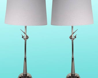 Mid-Century Rembrandt Table  Lamps,  A Pair