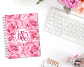 Lovely Roses Valentine's Day Planner Cover Monogram Personalized Erin Condren Recollections Happy Planner A5 Personal Pocket B6 Dashboard