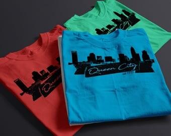 Charlotte Shirt - Charlotte Skyline - Queen City - Skyline Shirt - Charlotte Skyline Shirt - Charlotte Shirt - Charlotte NC - Skyline