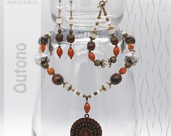 Jewelry Set | Necklace, Bracelet, Earrings | Outono PG40230825