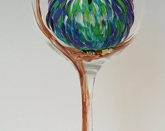 Owl Wine Glass