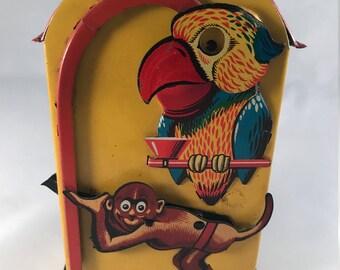 Mechanical Monkey & Parrot Bank