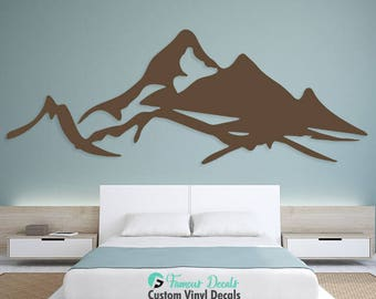 Mountains Decal, Mountains Wall Decals, Mountains Sticker, Wall Decals,  Decal, Mountains