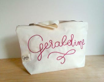 Accessory bag, cotton bag with handemboidery