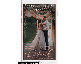 Rose Gold Wedding Geofilter/ Snapchat Geofilter Wedding/ Rose Gold Wedding Filter/ Wedding Snapchat Geofilter/ Custom Wedding Geofilter Gold