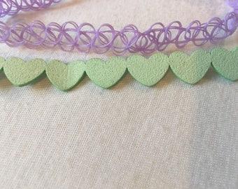 Neon Pastel pair of Chokers
