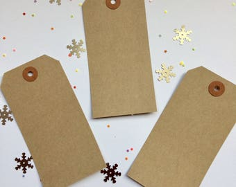 Luggage labels - pack of  25 -  manilla card gift tags - brown tags -unembellished tags -unstrung tags -gift cards - place cards -name cards