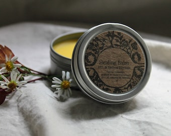 Healing Balm : All Purpose Herbal Balm with Calendula, Yarrow + Plantain