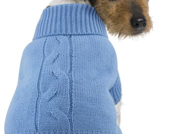 Dog Knit Jumper Blue Design