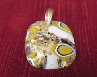 bijoux vintage- pendentif en verrerie artistique fabriqué à Murano,Italie,vintage jewelry- pendant made of artistic glassware made in Murano