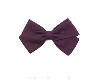 Kids hair clip or bow plum baby headband