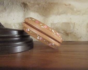 Hand painted wooden Bangle Bracelet