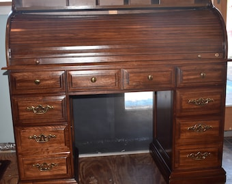 Solid OAK Wood Lift Top Desk