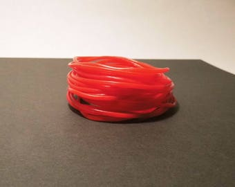 60 rings red silicone bracelets 7cm