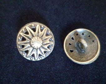 2 buttons 15 mm shank Bronze jacket like five coats