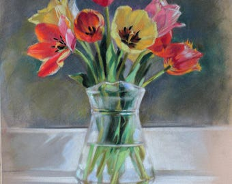 soft pastels Tulips