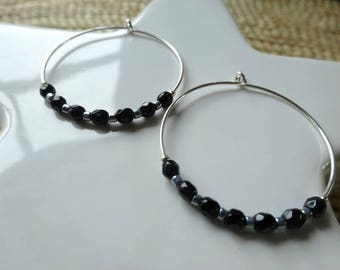 925 sterling silver hoops and beads