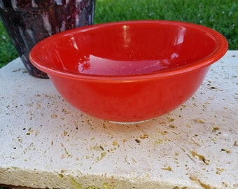 Pyrex RED Rimmed Nesting Bowl, #325