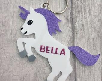 Personalised Unicorn Keyring/Bag Tag