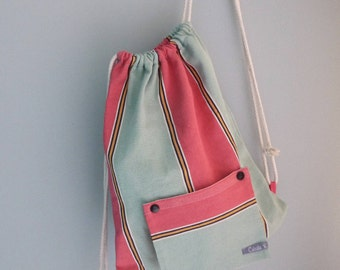 canvas backpack & removable pouch