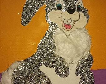 Rabbit animal disney nature drawing young glitter feathers