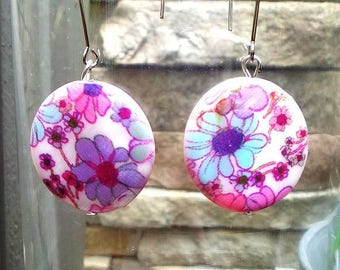 Flower Earrings, dangling and elegant