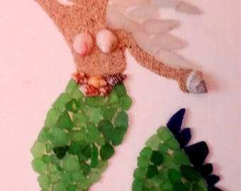 Sea Glass, Shells and Sand Mermaid
