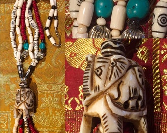 Necklace ethnic elephant