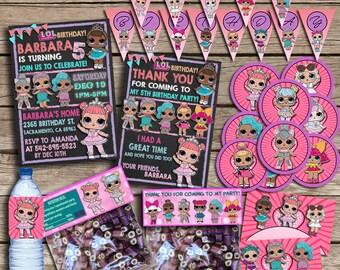 LOL Surprise Party Kit, LOL Surprise Birthday Party Kit , LOL Surprise Printable And Digital File, lol Surprise