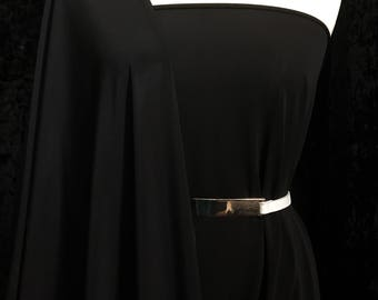 Matte Jersey ITY Knit Fabric Sold By The Yard (Black) Free Shipping in U.S.