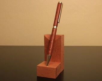 Leopardwood Slim Twist Pen