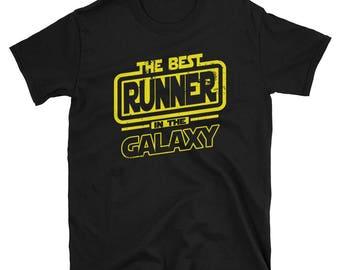 Runner Shirt - The Best  Runner In The Galaxy -  Runner Gift T-Shirt