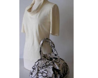 Bag * BD * (black and white with pattern)