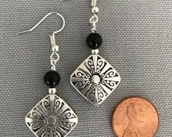 Silver Plated Metal Design Earrings