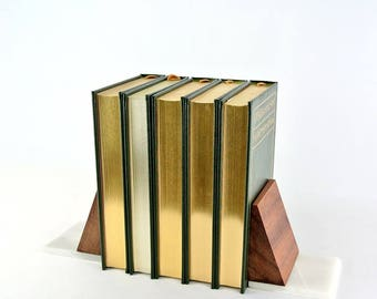 Sapele and Marble Bookends