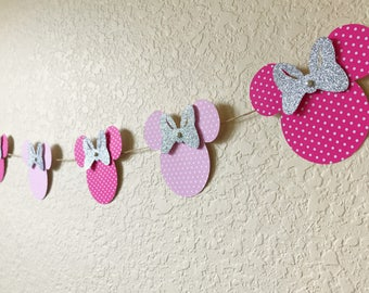 Minnie Mouse Garland/Minnie Mouse decorations/ Minnie Mouse Birthday party