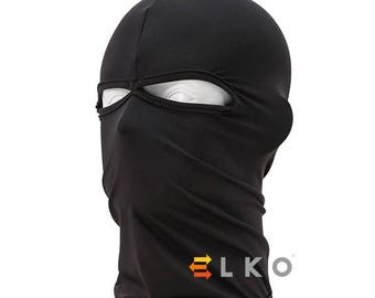 Black Balaclava Mask Under Helmet Winter Warm Army Style Neck Warmer