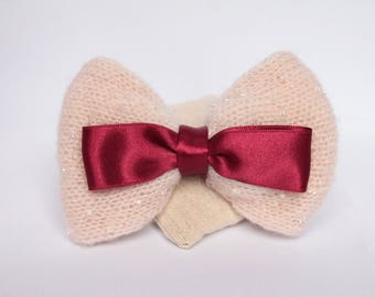 Cocooning hair bow