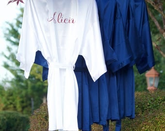 Customized Robes/Adult Custom Robes/Personalized Bridal Robes/Bridal Party/Kimono Robes/Satin Robes/Wedding Gift