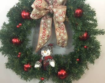 Red Let it Snow Wreath