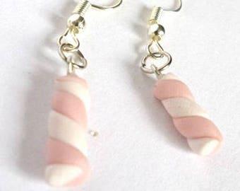 Marshmallow Fimo earrings