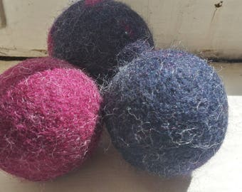 Handmade Felted Wool Dryer Balls, Alternative to Dryer Sheets, Eco-Friendly