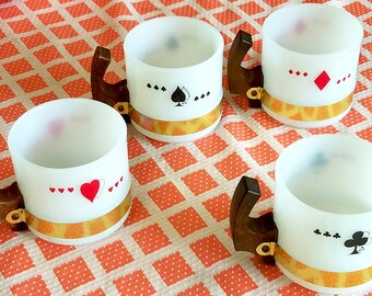 "Poker Themed"" Coffee Mugs by Siesta Ware, Set of 4"