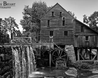 Yates Mill BW, Raleigh, NC by Robby Bryant Photography