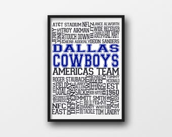 Dallas Cowboys Printable Wall Art