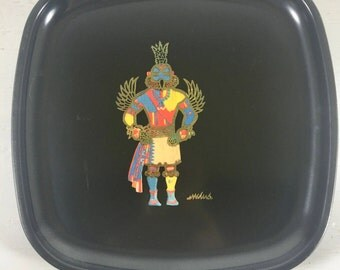 Vintage Couroc Tray//Mid-Century//MCM//Serving Tray