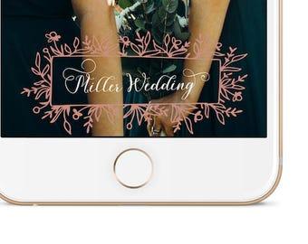 Wedding Snapchat Geofilter | Miller