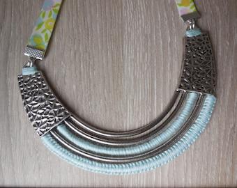 Liberty ethnic bib necklace
