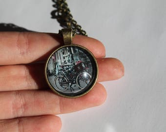 Bike in Amsterdam Photo Pendant Necklace